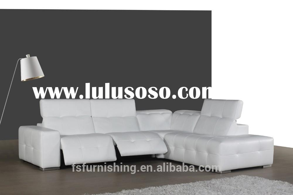 JR9308A modern sectional functional recliner white office home sofa genuine cow italian leather livi