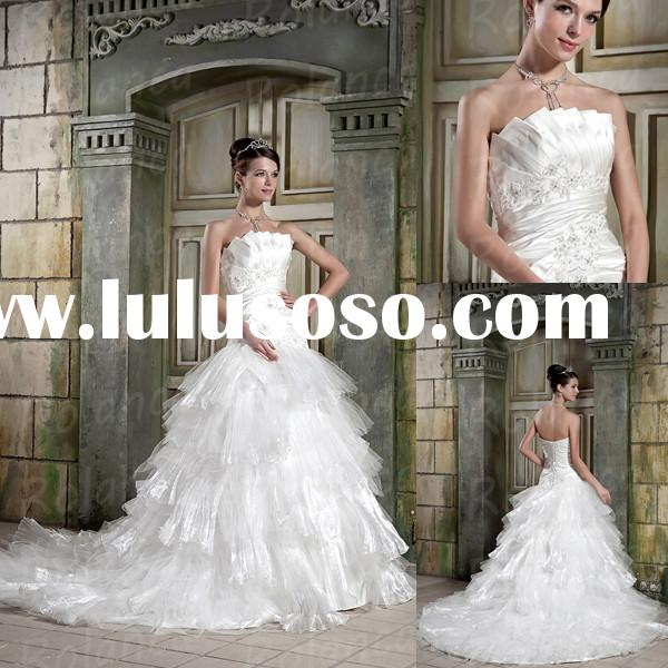 Swan style plus size white ball gown wedding dresses with tulle wholesale long trains Rolanca CXH107