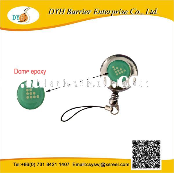 Round metal key chain retractable badge reels
