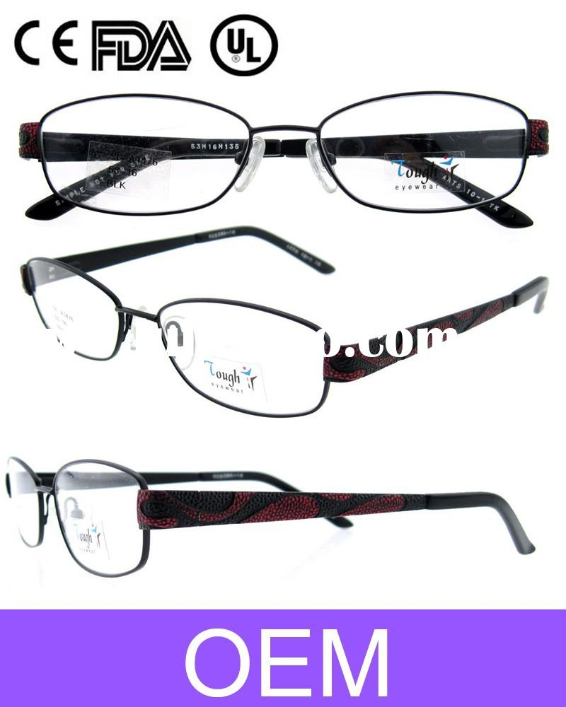 2015 new fashion frame china eyeglasses metal women eye glass fillrim double color cave on temple Sp