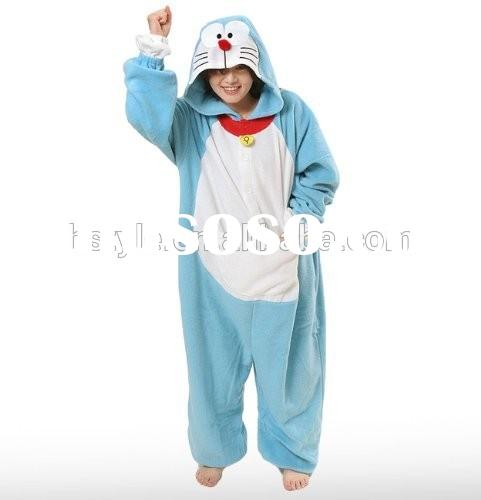 Custom Made Japan Cartoon Anime Doraemon Cosplay Costume Adult Halloween Christmas Party Pajama Cost