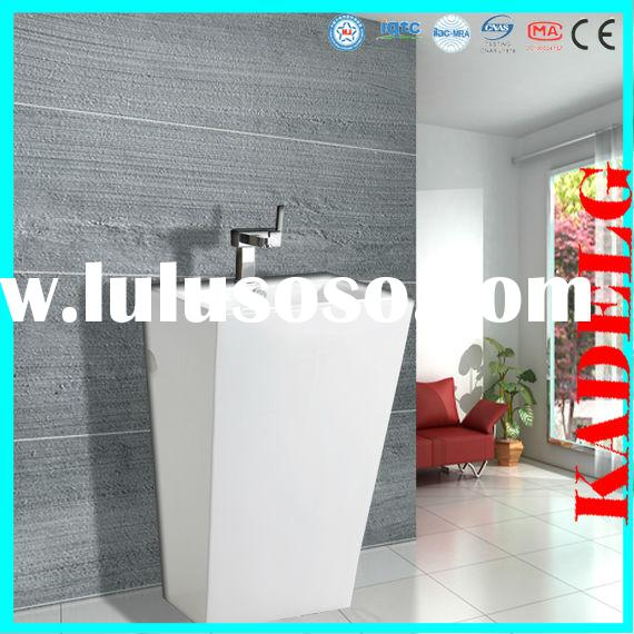 EU country family bathroom AAA quality small corner pedestal sink