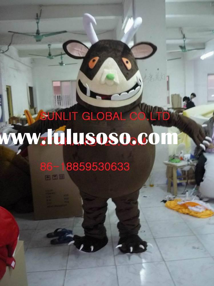 Factory Direct Sale Adult Halloween Gruffalo Bull Cow Cartoon Mascot Costume Party Cosplay Fancy Dre