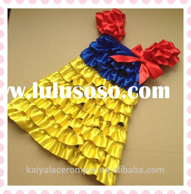 Hot Sale Child Clothes Latest Dress Designs Snow White Princess Birthday Dress For Toddlers