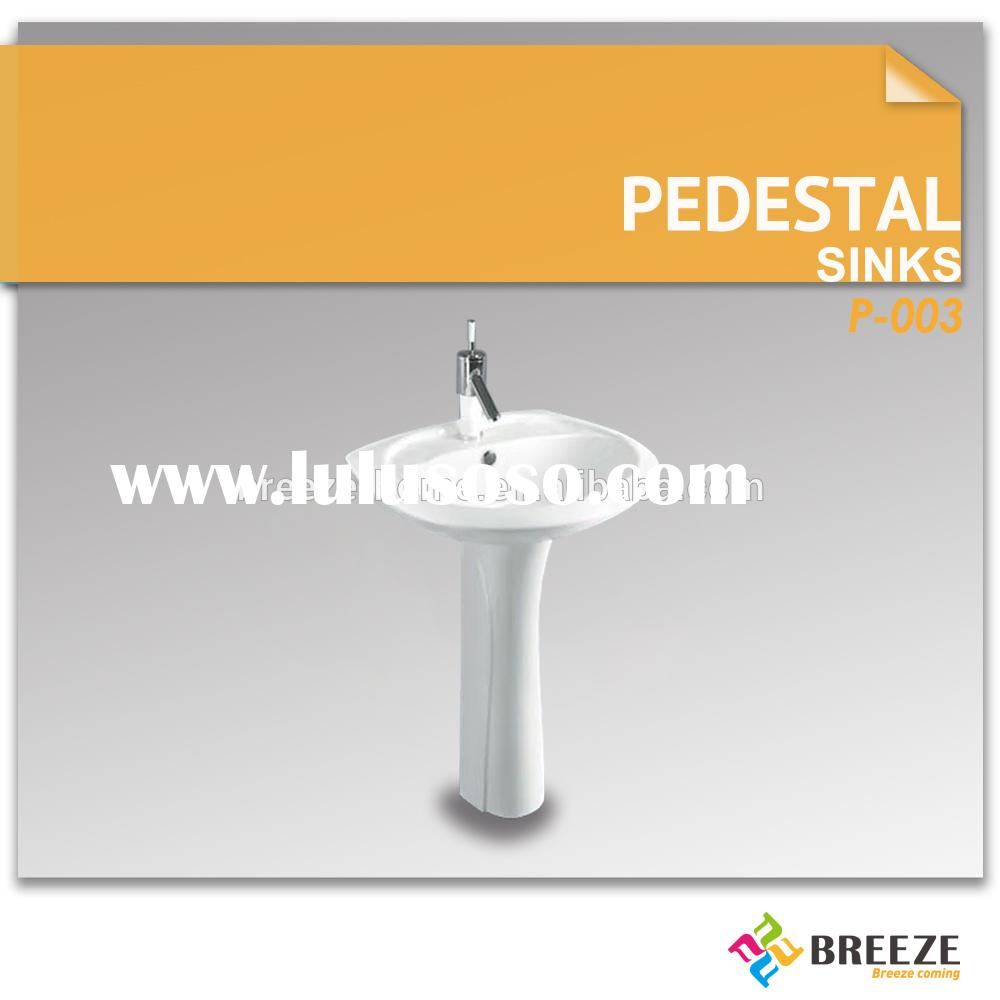 P-003 Small Pedestal Sinks for Bathroom D-shaped