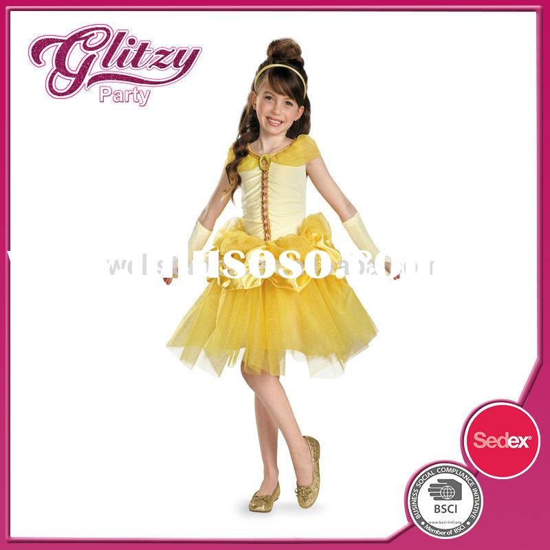 PD-70 2015 holiday party girls dancing dress toddler fancy costumes for kids gold fairy princess dre