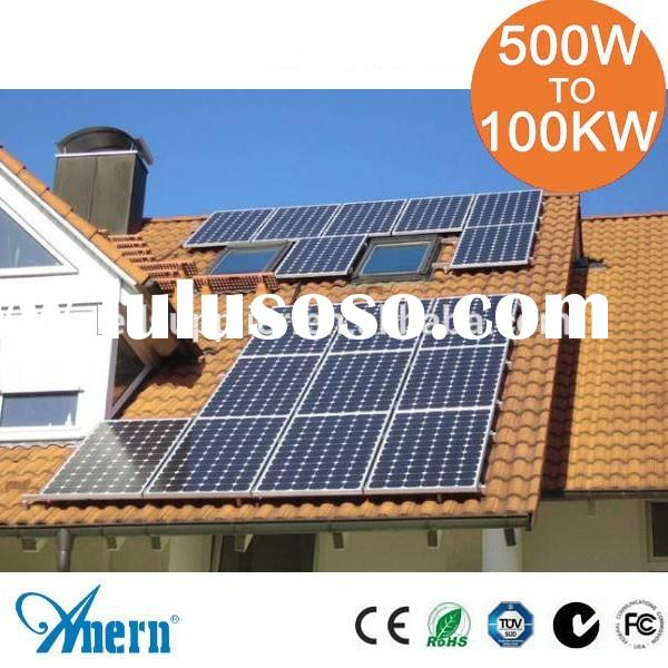 Residential Durable Off Grid 2KW Solar Panel System/Home Solar Power System With CE RoHS Certificati