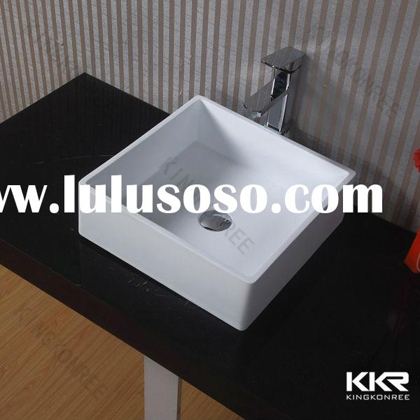 Save Space Portable Stone Resin Small Bathroom Sink