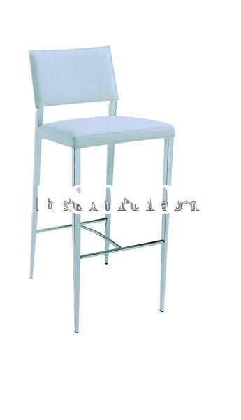 modern white PU bar stool &high chair