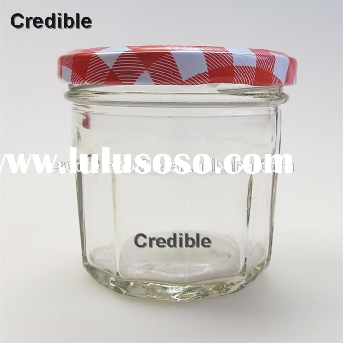 150g big mouth storage glass jar round storage container with metal lid