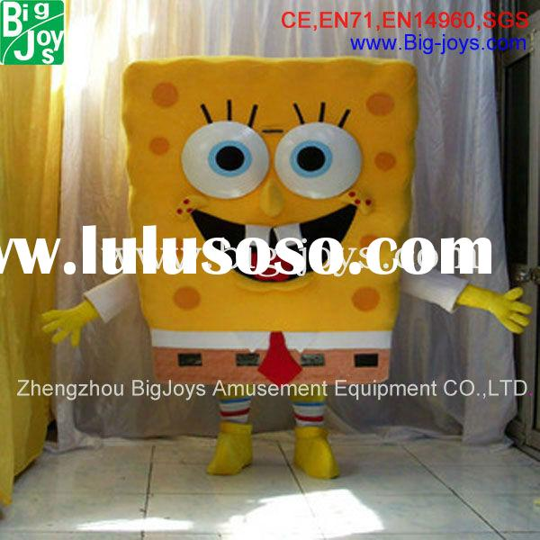 2013 hot-selling cute party cartoon spongebob mascot costume with cheap price for sale