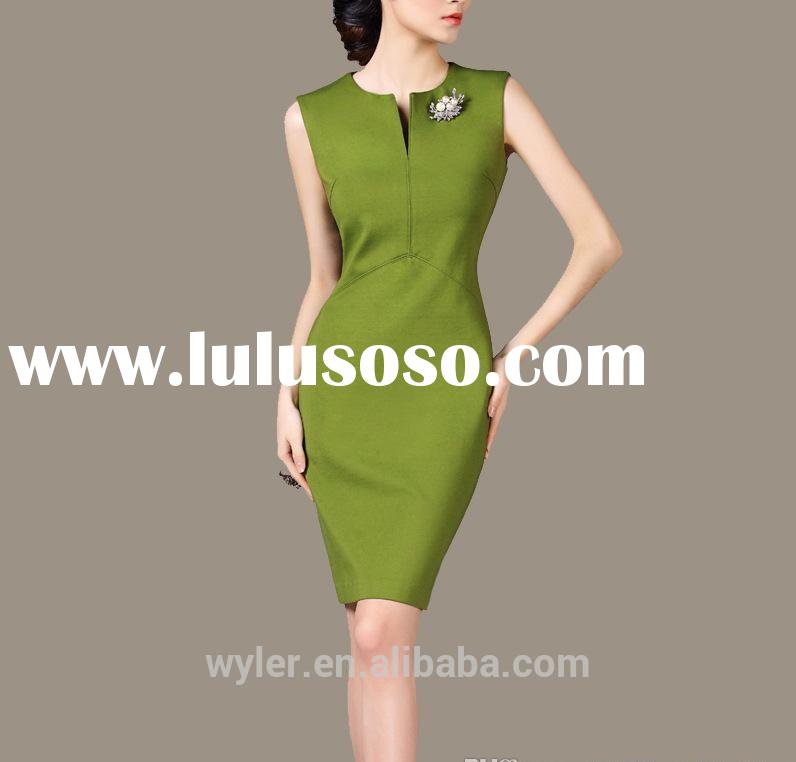2015 Wholesale Casual Work Dress For Women New Fashion Summer Dress For working Clothing