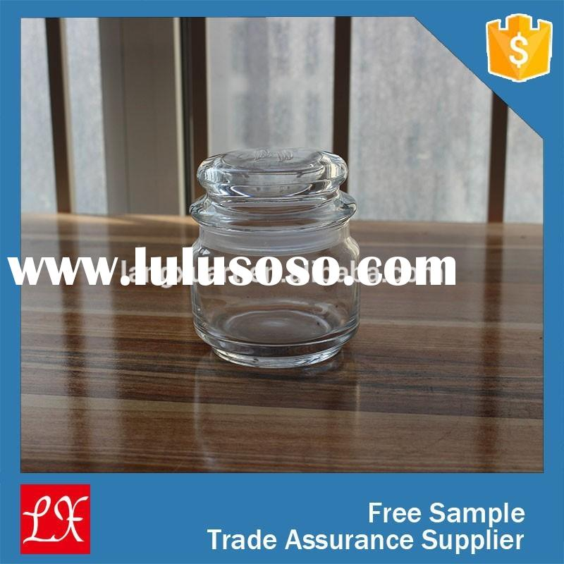 Machine blown kitehcware sealed small round glass jar with lids