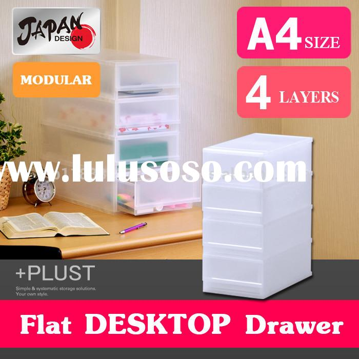 Storage box A4 Japan made modular Storage case file box plastic drawer case stackable a4 plastic doc