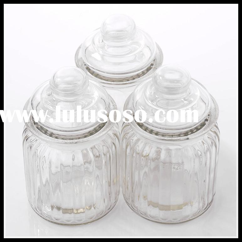 big sealed biscuit glass jar with glass lid
