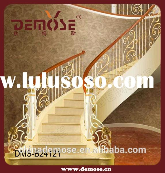 design modern interior wrought iron stair railings /indoor staircase designs