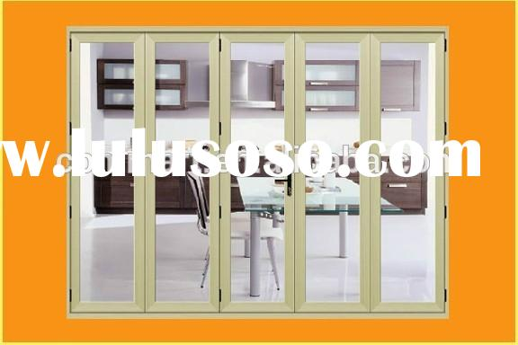 pleated mesh folding screen door/vinyl folding door