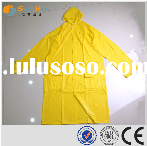 sunnyhope hot sale glossy surface pvc plastic raincoats for women