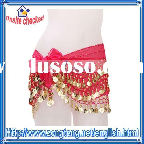 Professional Belly Dance Costume - Belly Dance Hip Scarf Pink