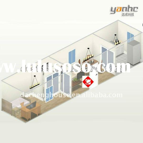 Modified sea container house with kitchen
