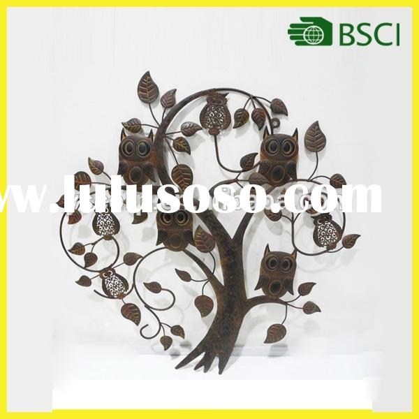 Indoor metal family tree wall decor for home