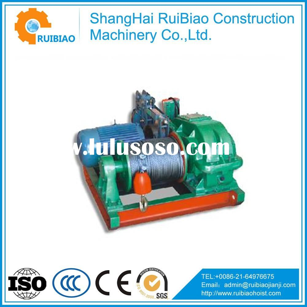110v electric winch with wire rope